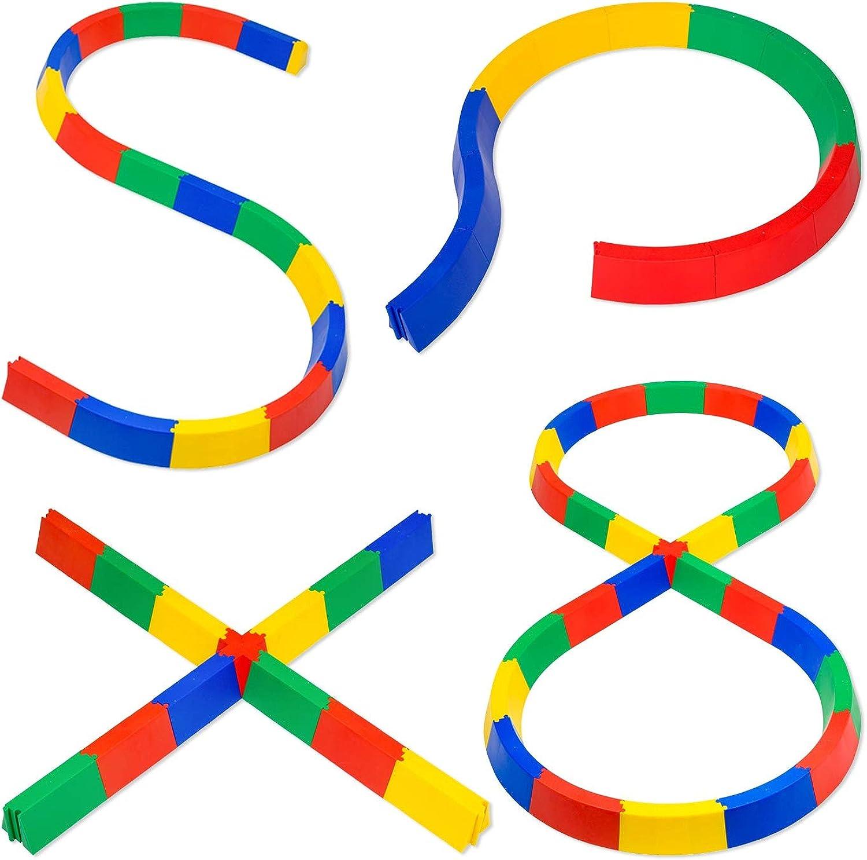 Sport-Thieme Balanciermauer-Set für Kinder   Balancierspiel in 4 Ausführungen  Kurven, Kreuz, S-Form, 8-Form   Stecksystem, kombinierbar, Belastbar bis 80 kg   Bunt   Markenqualitt