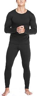 Mens Thermal Underwear Set with Lightweight Ultra Soft Fleece Lined,Long John Set, Moisture-Wicking Skiing Base Layer