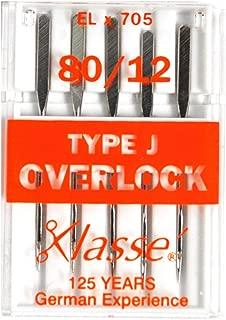 Klasse Serger Type J Overlock Size 80/12 Needles 5 Pack