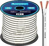 white speaker wire - InstallGear 14 Gauge AWG 100ft Speaker Wire Cable - White