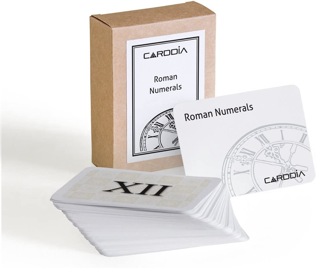 CARDDIA Roman Numerals Educational flashcards Finally resale start Max 45% OFF