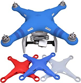 O'woda Silicone Body Cover Thickened Case Protection Shell for DJI Phantom 3 (Blue)