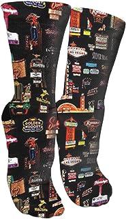 靴下 抗菌防臭 ソックス ラスベガスアスレチックスポーツソックス、旅行&フライトソックス、塗装アートファニーソックス30センチメートル長い靴下