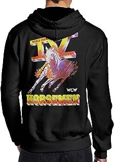 TammyRLewis Men's WCW Four 4 Horsemen Wrestling Legends Cool Casual Long Sleeve Hoodie Sweatshirt Hip Hop Pullover Black