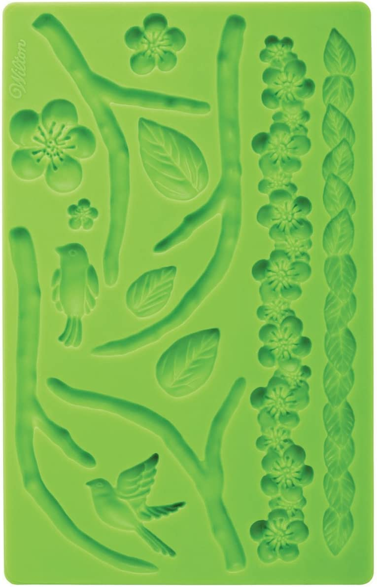 Many popular brands Year-end gift Wilton Silicone Nature Designs Fondant and Paste Cake Mold - Gum