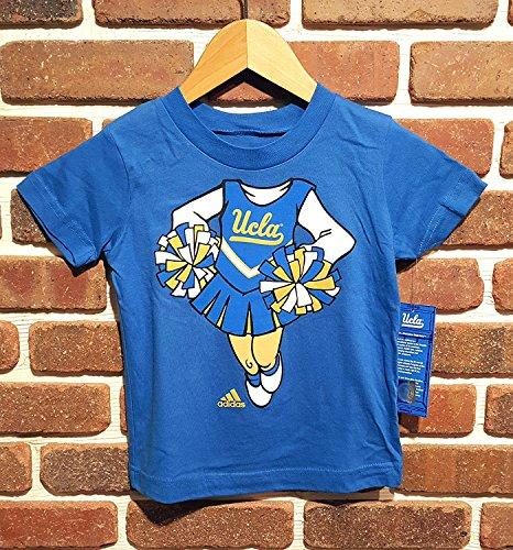 Adidas UCLA Kinder S/S T-Shirt, Königsblau, mit Cheerleader-Logo, Mädchen, königsblau, 3 Jahre