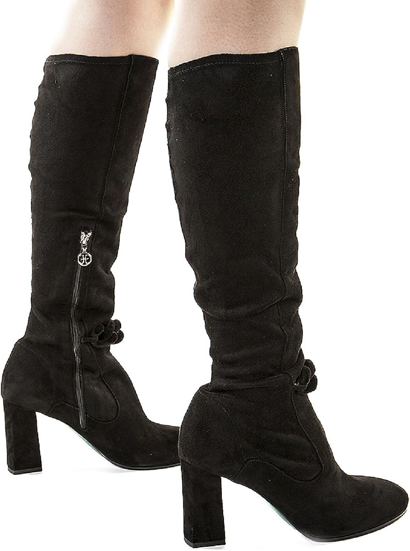 FABI FABI FABI 6142 svart mocka Knee High Italian Designer stövlar  spara 60% rabatt