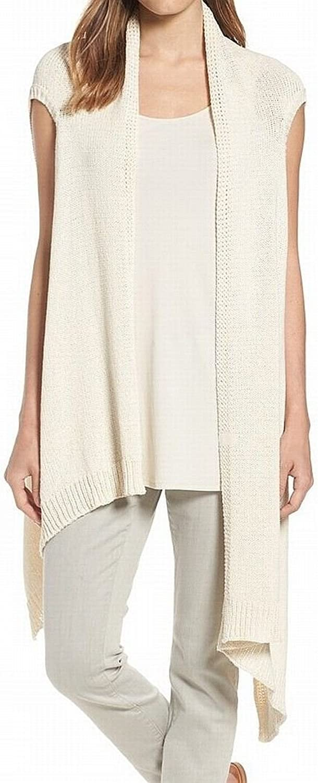 EileenFisher Womens Asymmetric Sleeveless Vest