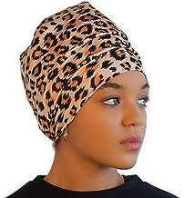 Satin Lined Sleep Cap - Silk Feel Sleeping Bonnet/Hair Wrap for Women - Natural Curly Hair Head Cover & Night Slap Caps