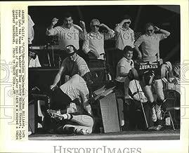 Historic Images - 1988 Vintage Press Photo Dalton Hilliard, of the Saints, runs into Rams Band leader