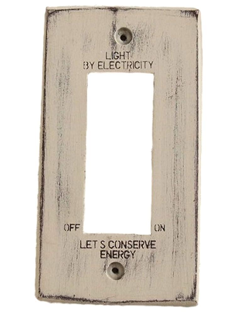 とは異なりロバ常識カントリー雑貨 木製 スイッチプレート スイッチカバー ホワイト (3穴)