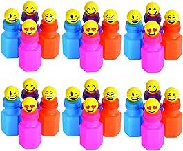 Kicko Mini Emoticon Bubbles - Set of 24-3 Inch Adorable Emoji Bubble in Vibrant Color Container for Party Supplies, School Reward, Goody Bag Stuffer, Pinata Filler,