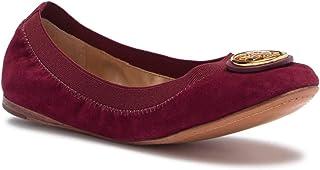c8b432c85fbb Tory Burch Caroline Patent Leather Logo Ballet Flat Shoes