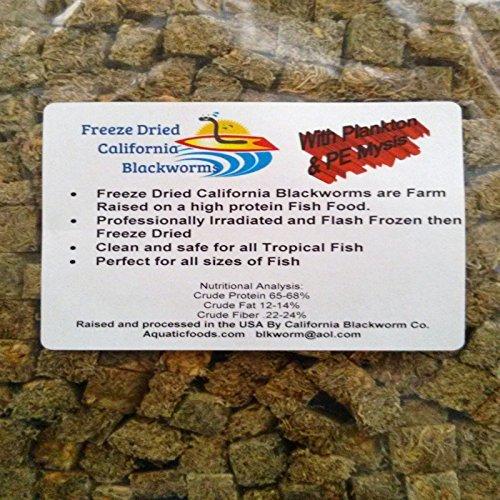 Aquatic Foods Inc. Blackworms with Plankton & Mysis, Freeze Dried California Blackworms… 10gram