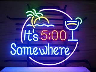 LDGJ Neon Signs ITS ITS 500 SOMEWHERE ITS 500 SOMEWHERE Home Beer Bar Pub Recreation Room Game Lights Windows Glass Wall Party Birthday Bedroom Bedside Table Decoration Gifts