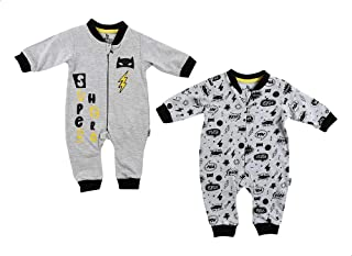 Lumex Batman Front Print Jumpsuit with Long Sleeves Patterned Jumpsuit Clothing Set for boys, 2 Pieces