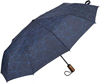Wind Tolerant Umbrella Rain Women for Men Three Fold Fully-Automatic Parasol Compact Large Travel Business Car 10K Umbrell...