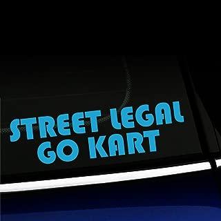 Artistic Reflection Street Legal Go Kart - Vinyl Decal for Mini Cooper - Choose Color - [ICE Blue]