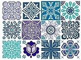 BRIKETO Marina Decorative Tile Stickers Set 12 Units 6x6 inches. Peel & Stick Adhesive Vinyl Tiles. Backsplash. Staircase. Home Decor. Furniture Decor.
