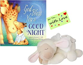 Baby Ganz Plush Musical Lamb w/Angel Wings Plays Jesus Loves Me w/God Bless You and Good night book & Gift Tag