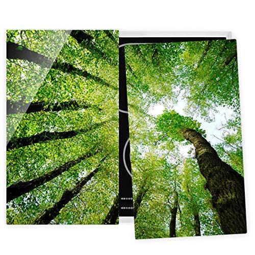 Bilderwelten Couvre Plaque de Cuisson à Induction vitrocéramique - Trees of Life 52 x 60 cm