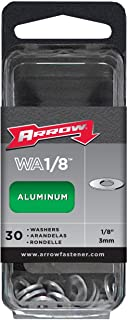 Arrow Fastener WA1/8 Aluminum Washers, 1/8-Inch, 30-Count