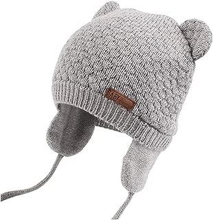 Baby Hat Warm for Boys Cute Bear Toddler Girls Earflap Beanie Fall Winter Infant Caps Stripe