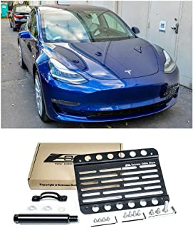 for 2016-Present Tesla Model 3   EOS Plate Version 1 Front Bumper Tow Hook License Plate Mount Relocator with Lowering Extension Bracket Tow-457 (Mid Size)