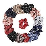dorisdoll 24 unidades de gomas para el pelo, soporte para cola de caballo, bandas de pelo elásticas, 12 estilos para mujeres, chicas, mujeres