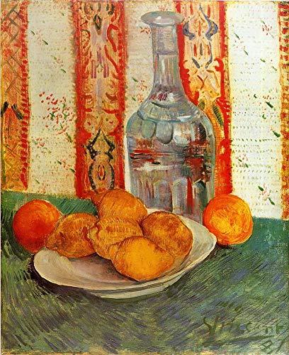 Singing Palette 19 berühmte Gemälde auf Leinwand von akademischen Malern - 40€-1500€ Handgefertigte Ölgemälde - Stillleben with Decanter und Lemons on a Plate Vincent Van Gogh - Kunst Bilder -Maße07