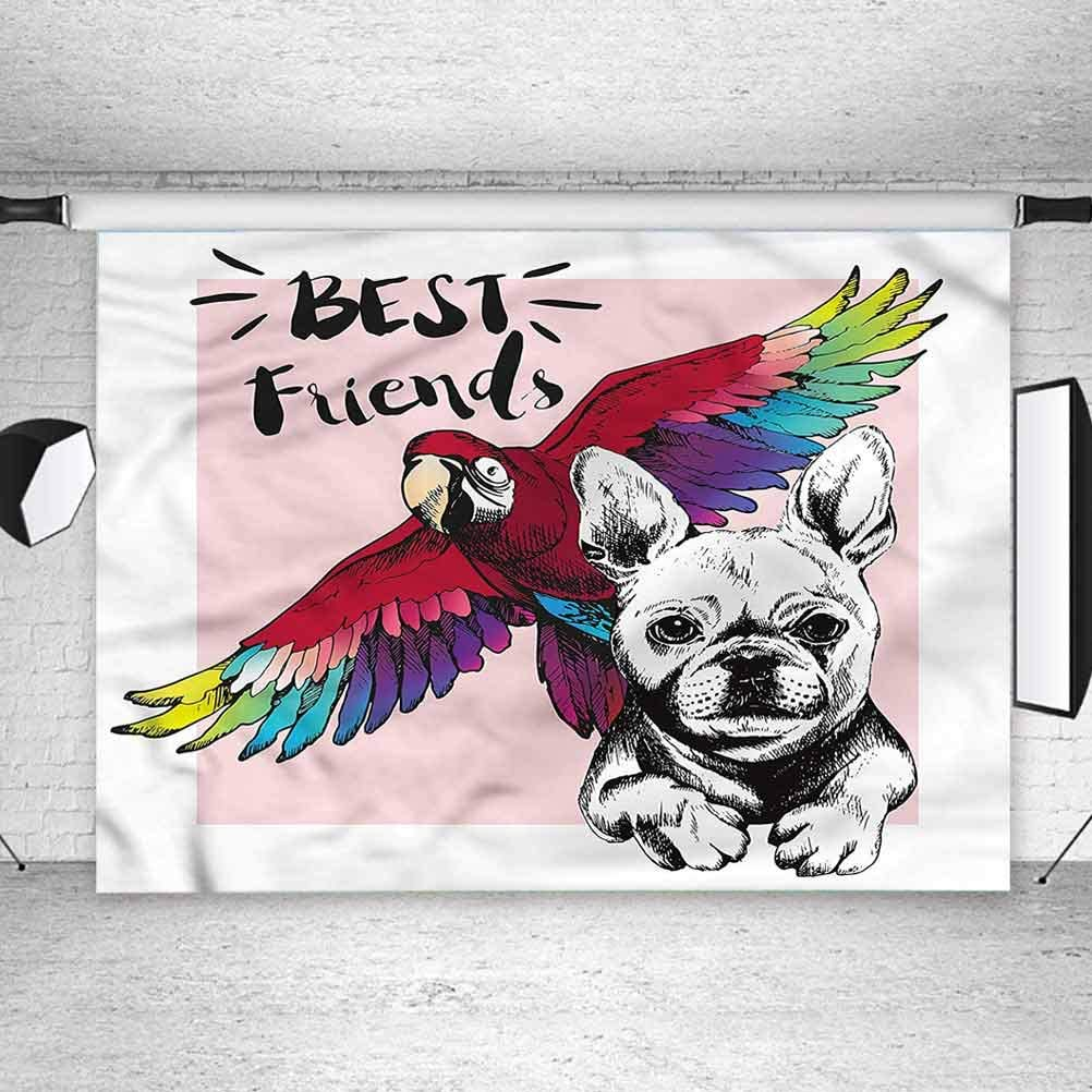 8x8FT Vinyl Photo Backdrops,Cartoon,Cheerful Animal Characters Photoshoot Props Photo Background Studio Prop