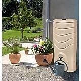 EDA Plastiques - Récupérateur d'eau de pluie - Récupérateur d'eau 350 L RECUP'O Beige