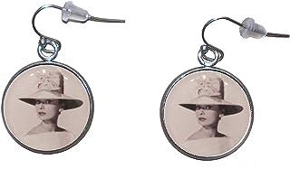 Orecchini pendenti in acciaio inossidabile diametro 20 mm fatto a mano illustrazione Biancaneve 2