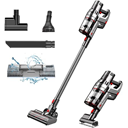 Proscenic P11 Cordless Cleaner, Stick Handheld Vacuum with Mop, 25000pa Powerful Motor Touch Screen, Removable Battery, 3 Adjustable Suction Modes for Hard Carpet/Pet Hair/Floor Washing, Gray