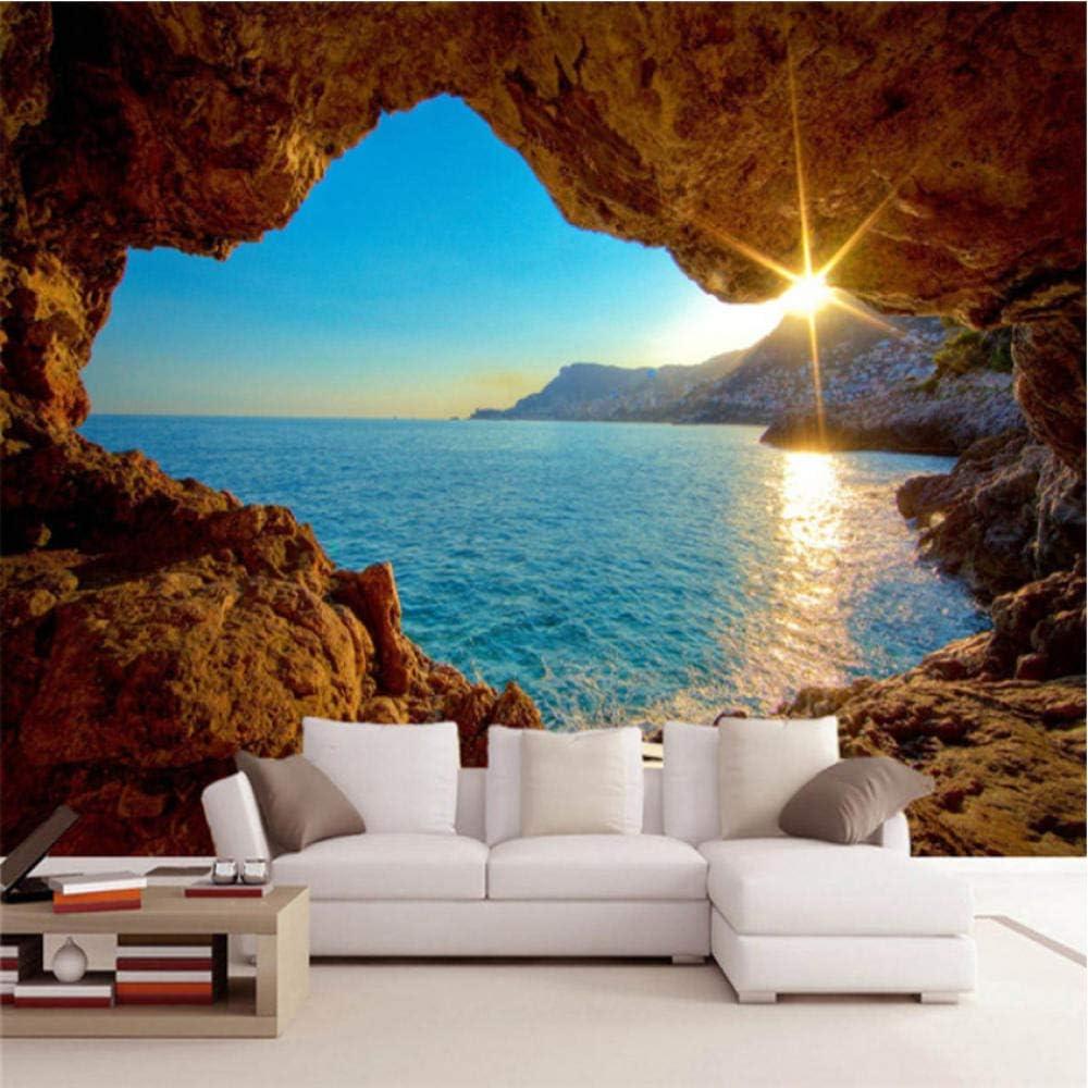Low price Pbldb Custom Mural Wallpaper 3D Seaside Landscape Reef Ca Stereo Choice