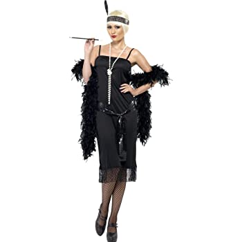 ADULTO MUJER OFERTA Negro Flapper disfraz - Negro, Plus Size ...