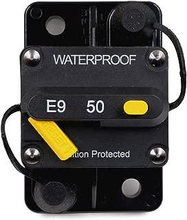 T Tocas 50 Amp Circuit Breaker Trolling amp breaker with Manual Reset, 12V- 72V DC, Waterproof (50A)
