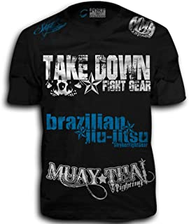 11a6b5d0c5d5c Take Down Fight Gear Skull Muay Thai Fighting Brazilian Jiu-Jitsu Walk-Out  MMA