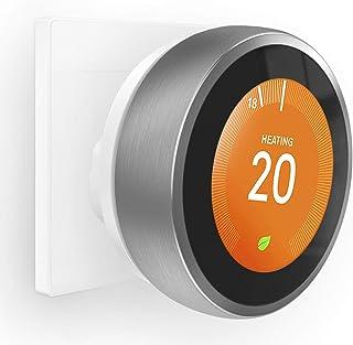Versión actualizada: Soporte de pared HOLACA para termostato de aprendizaje Nest – 3ª generación incluido enchufe británico