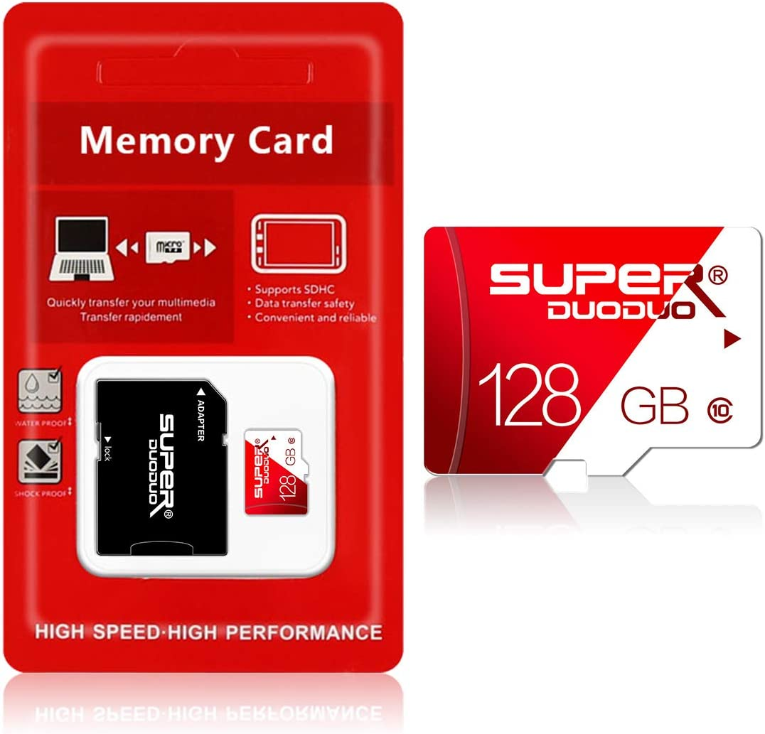 Micro sd Card 128GB Memory Card,TF Card with Adapter for Camera (Class 10 High Speed), TF Memory Card for Phone Computer Game Console, Dash Cam, Camcorder, GPS, Surveillance, e-Reader, Drone(128gb)