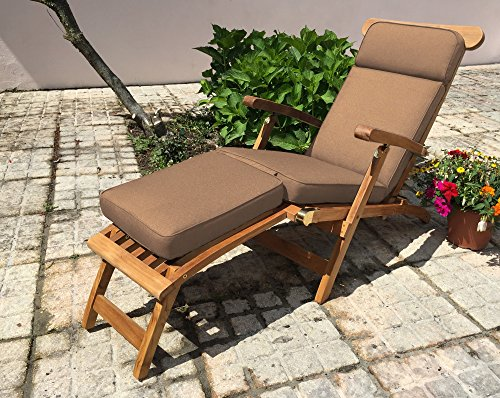Sustainable Furniture Cushion for Garden Steamer Chair (Taupe) Showerproof chaircushion