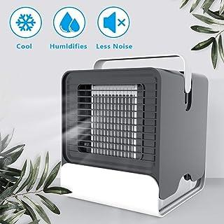 YJHH Air Mini Cooler Aire Acondicionado Portátil, Climatizador Evaporativo Silencioso, con Mango 2 Ajustable Velocidades Silencioso para El Hogar/Oficina/Habitación