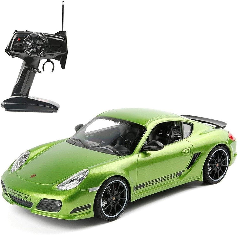 Poooc Wiederaufladbares High-Speed-Modellauto mit 1 16 grüner Spyder-Fernbedienung für Kinder, das drahtlose Drift-Rennen aufldt