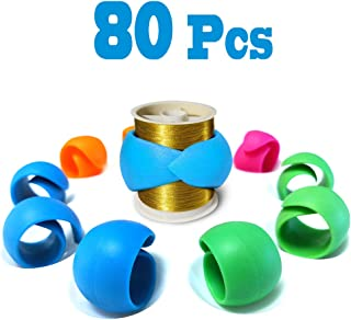 Hulameda 80 Pieces Thread Spool Huggers to Prevent Thread Unwinding and Keep Thread Tails Under Control