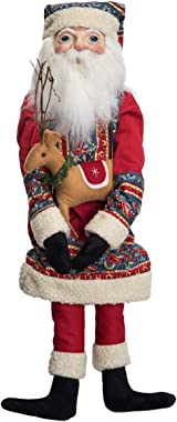 GALLERIE II Bjorn Sami Santa Christmas Xmas Holiday Gathered Traditions Hand Painted Art Doll Collectable Figurine Red