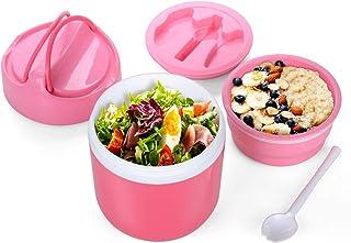 WayEee Lunch Pot 960 ml, Super Capacidad Termo Comida & Sopa Botella con Cuchara para niños y Adultos (Rosa)