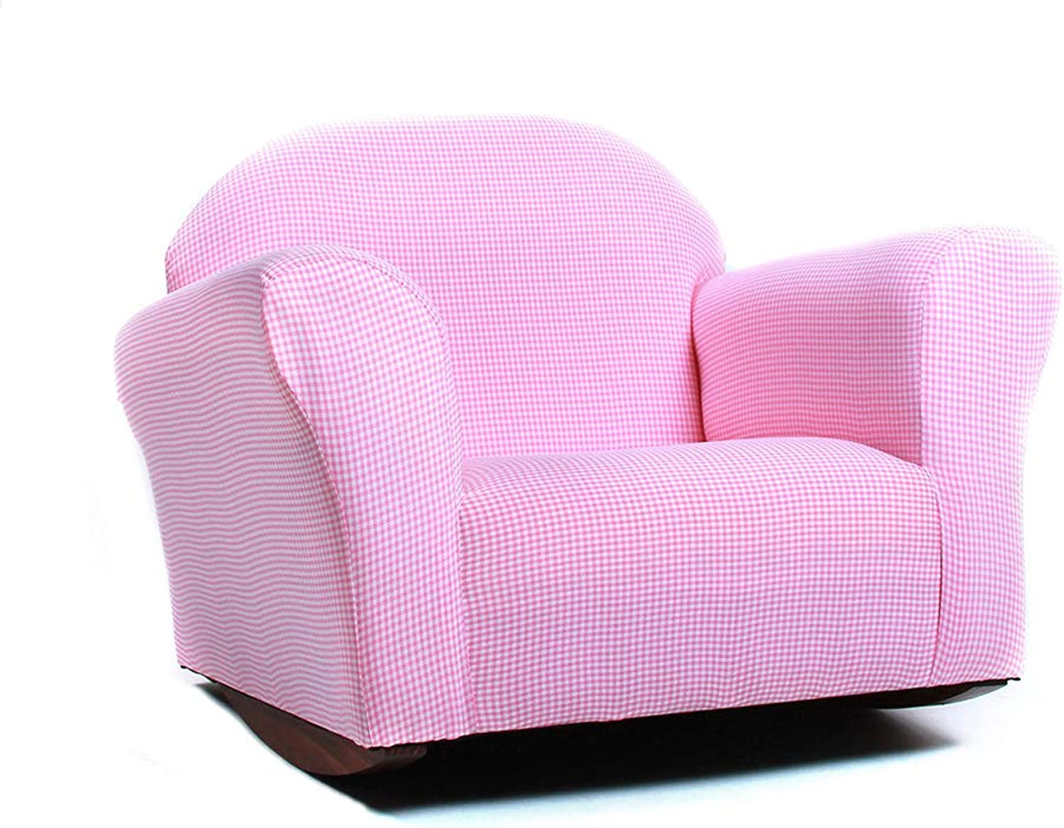 Keet Roundy Rocking Kid's Chair Gingham, Pink