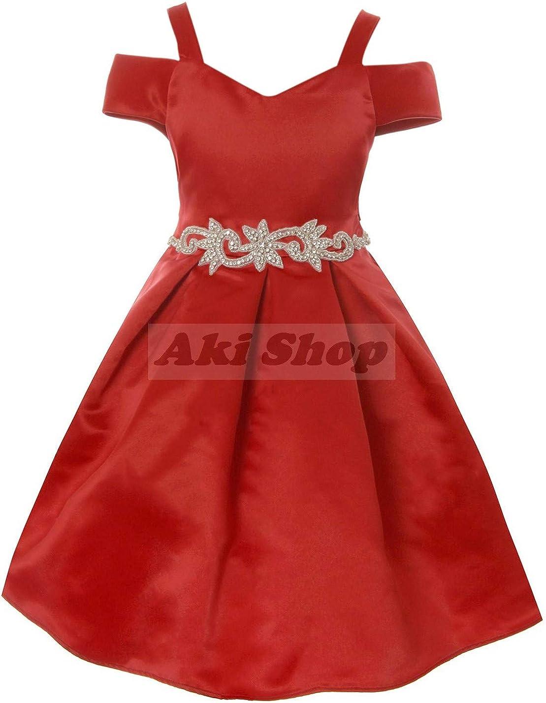 Cold Shoulder Flower Girl Formal Winter 交換無料 売れ筋ランキング Dress Daily