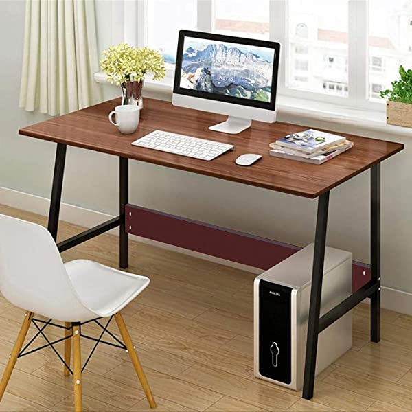 Chenway Desktop Home Table Laptop Desk Home Desk Computer Desk Office Desk Study Writing Table 47 2 L X21 6 W X28 3 H Ship From USA Directly Khaki
