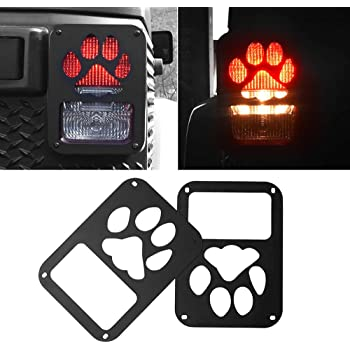 ICARS Rear Euro Matte Tail Light Guards Covers for Rear Taillights 2007-2018 Jeep Wrangler JK JKU Unlimited Accessories CarsHome